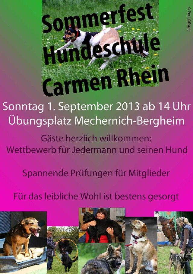 WEB 1707 Flyer Sommerfest Hundeschule