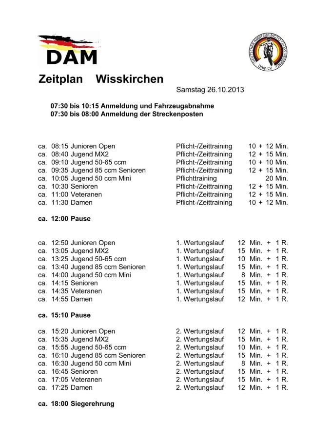 Zeitplan Samstag